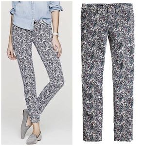 J Crew Liberty Junes Meadow Toothpick Jeans Pants